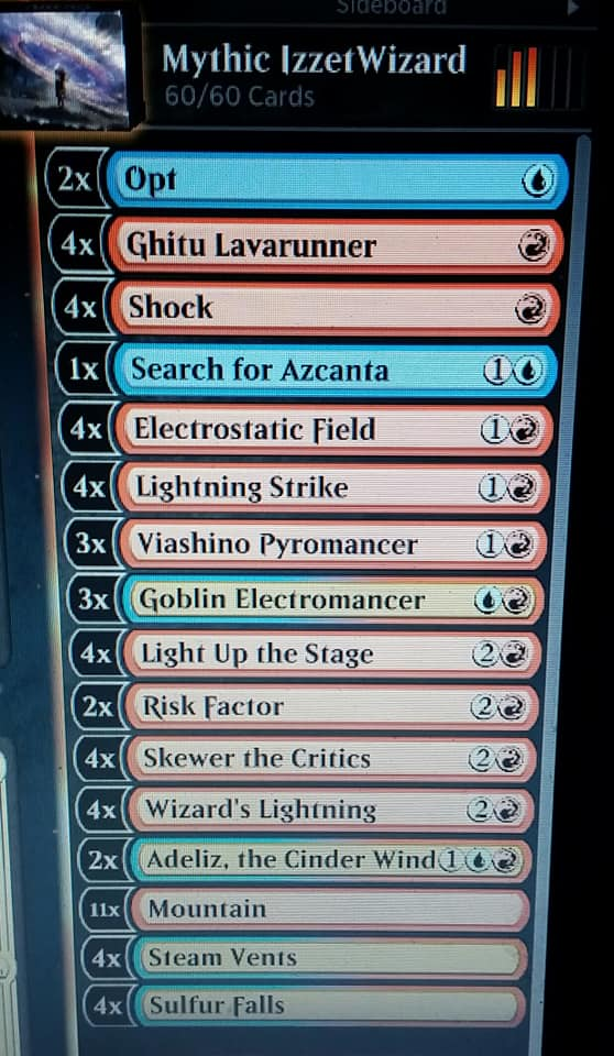Mike's Izzet Wizards Budget deck goes Mythic for February